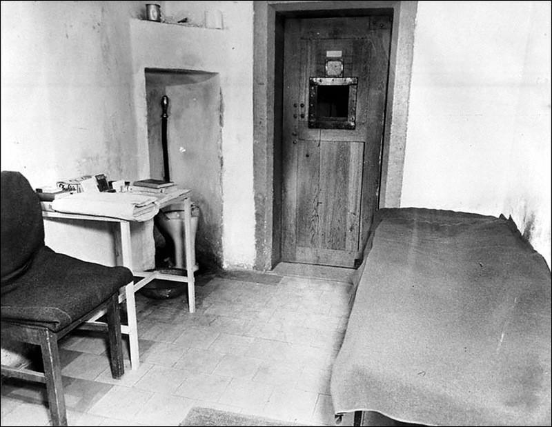 Одиночная камера, в которой содержался Геринг.